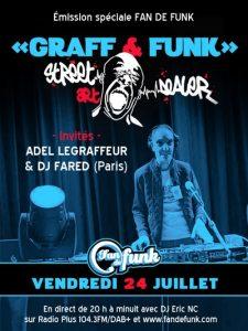 Flyer émission spéciale du 24 juillet 2020 Graff & funk