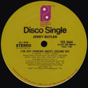 Jerry Butler - (I'm Just Thinking About) cooling Out
