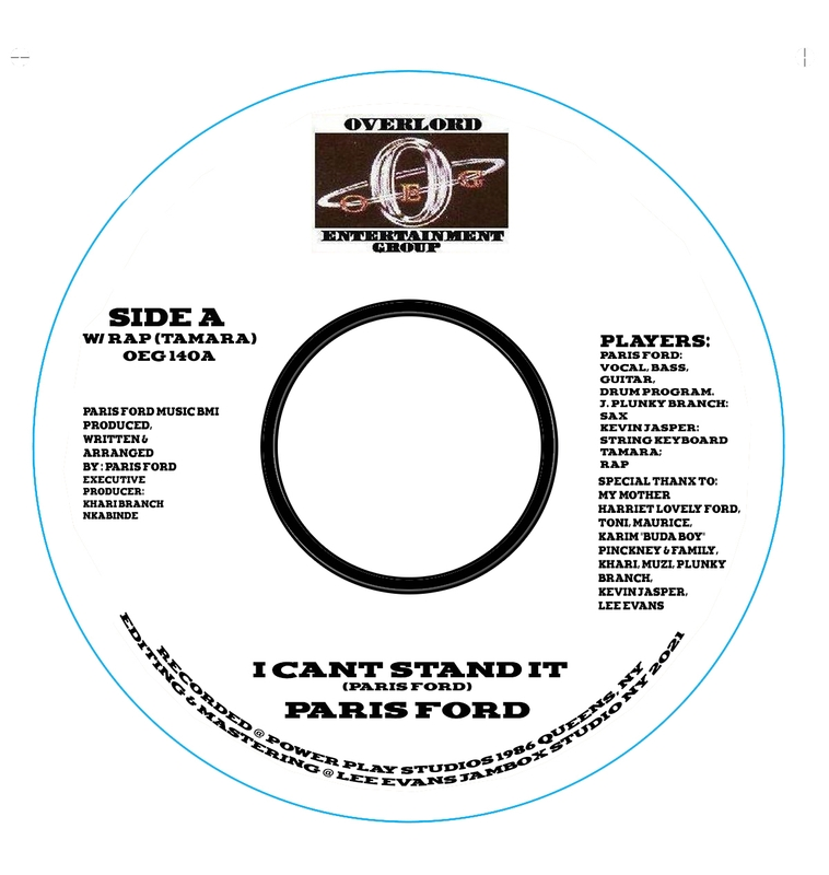 Paris Ford - I can't stand it